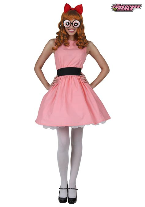 Powerpuff girls blossom deluxe adult costume adult jpg 1750x2500